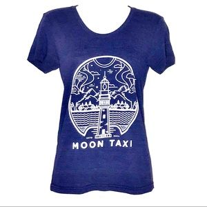 Vintage Moon Taxi Fitted  Band Tee Shirt